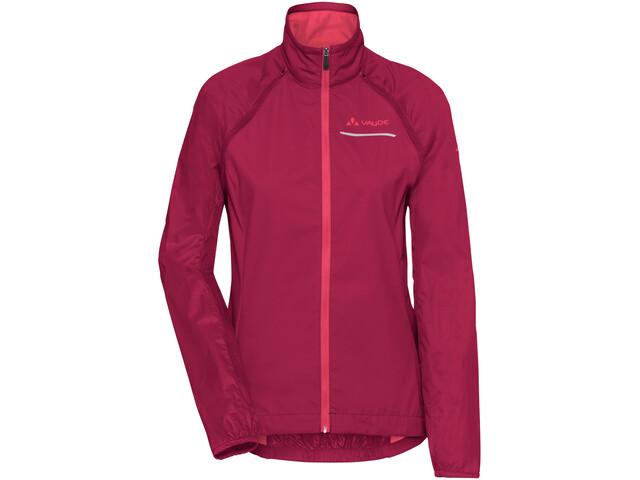 VAUDE Windoo Pro Zip Off Jacket Women, rood